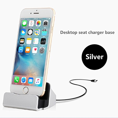 aursen argent foudre chargeur station de recharge sans fil iphone chargeur dock support de. Black Bedroom Furniture Sets. Home Design Ideas