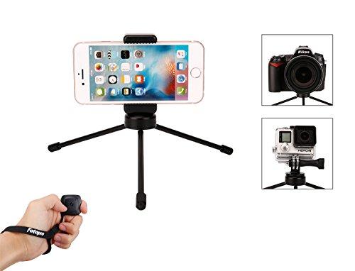 fotopro iphone tr pied mini tr pied pour cam ra ou smartphone avec t l commande bluetooth. Black Bedroom Furniture Sets. Home Design Ideas