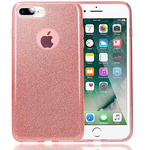 iphone 8 plus 7 plus coque silicone de nica fine glitter housse protection slim case. Black Bedroom Furniture Sets. Home Design Ideas