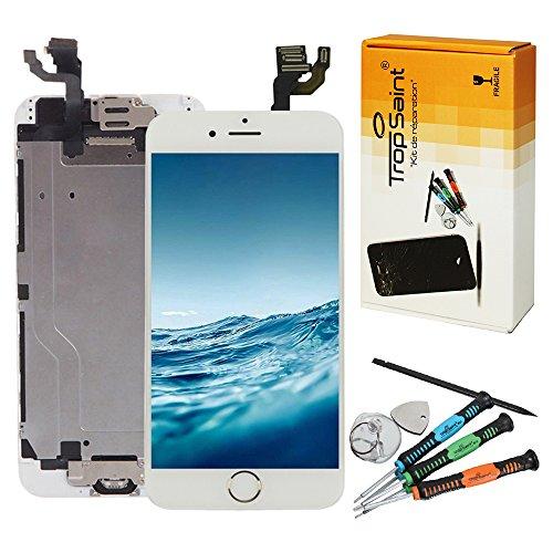 kit r paration cran pour iphone 6 plus 5 5 lcd blanc trop saint ecran complet ecran. Black Bedroom Furniture Sets. Home Design Ideas