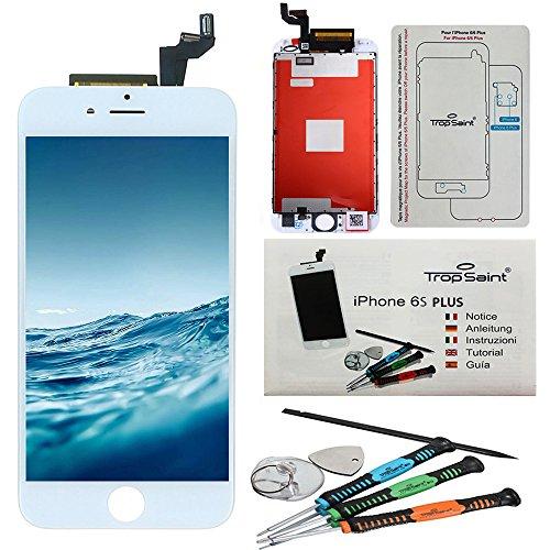 pour iphone 6s plus 5 5 kit de r paration ecran lcd blanc de trop saint ecran lcd. Black Bedroom Furniture Sets. Home Design Ideas