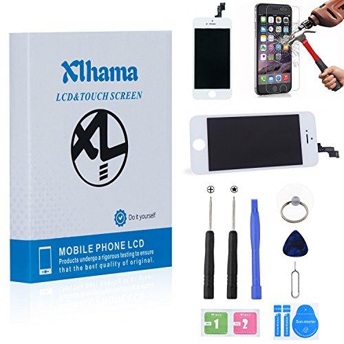 xlhama ecran lcd vitre tactile de remplacement retina display complet pour iphone 5s blanc avec. Black Bedroom Furniture Sets. Home Design Ideas