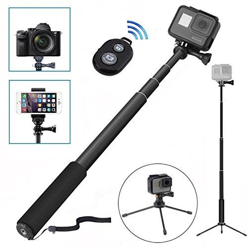 8 en 1 perche selfie wineecy selfie stick sans fil bluetooth avec tr pied pour cam ra gopro. Black Bedroom Furniture Sets. Home Design Ideas