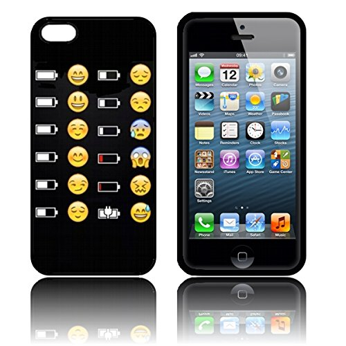 coque 39 battery emoji faces 39 tui housse apple iphone se en silicone tpu batterie iphone se. Black Bedroom Furniture Sets. Home Design Ideas