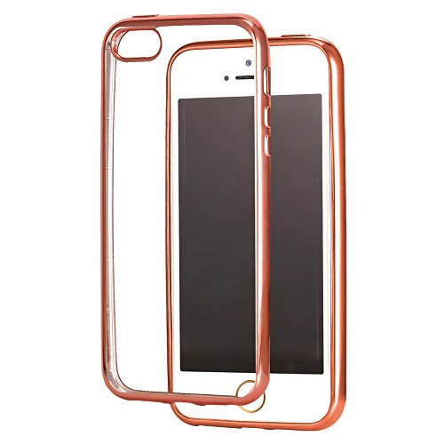 coque iphone 5 rose gold bandmax coque silicone antichoc pour iphone 5s tui de prtection en. Black Bedroom Furniture Sets. Home Design Ideas