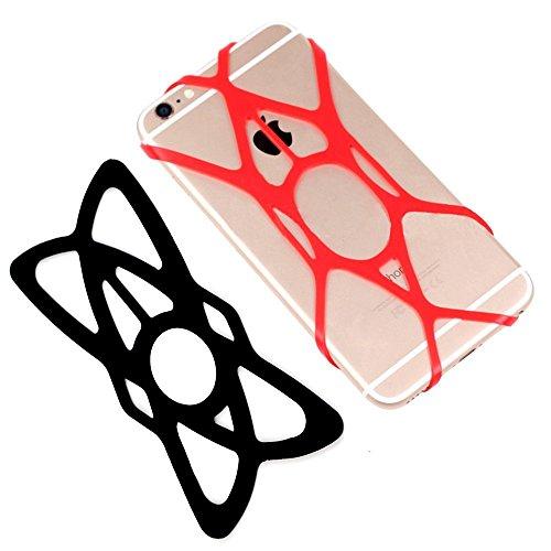 Demarkt porte t l phone v los silicone lastique v lo mobile s curit elastiques moto straps for Porte telephone moto