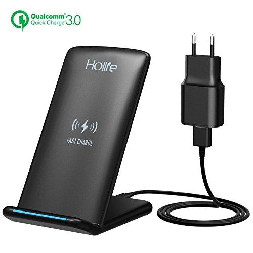holife qi chargeur sans fil rapide chargeur induction avec quick charge 3 0 pour samsung galaxy. Black Bedroom Furniture Sets. Home Design Ideas