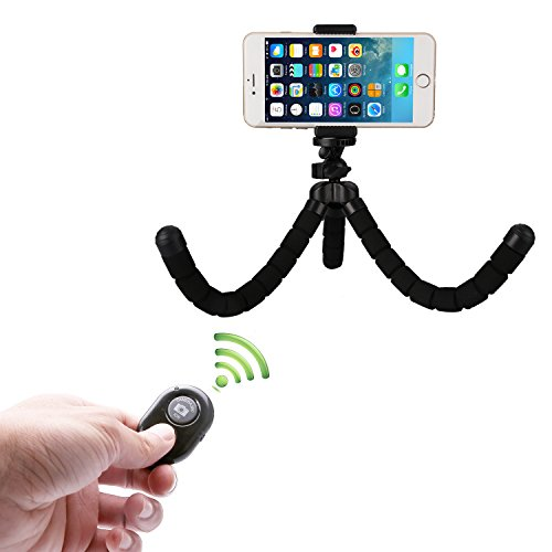mini portable tr pied flexible smartphone iphone avec support et t l commande bluetooth pour. Black Bedroom Furniture Sets. Home Design Ideas